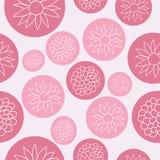 Flores en diseño inconsútil del modelo de las burbujas del rosa ilustración del vector