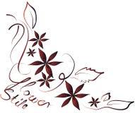 Flores en el fondo blanco Fotos de archivo libres de regalías