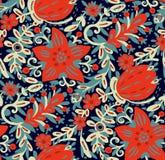 Flores en estilo del garabato Imagen de archivo libre de regalías