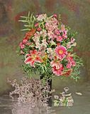Flores en florero Foto de archivo libre de regalías