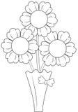 Flores en florero Fotografía de archivo libre de regalías