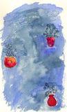 Flores en floreros Stock de ilustración
