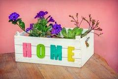 Flores en la caja Foto de archivo