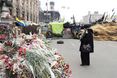 Flores en memoria de matado Imagen de archivo libre de regalías