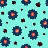 Flores en un fondo azul ilustración del vector