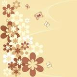 Flores en un fondo verde Fotos de archivo libres de regalías