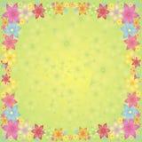 Flores en un fondo verde Imágenes de archivo libres de regalías