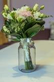 Flores en un tarro Foto de archivo