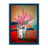 Flores en un tarro Pintura hecha a mano agradable en un marco ilustración del vector