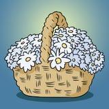 Flores en una cesta GARABATO COLORIDO EXHAUSTO DE LA MANO libre illustration