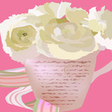 Flores en una taza Fotografía de archivo