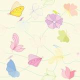 Flores estilizadas stock de ilustración