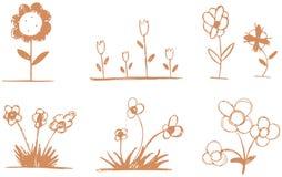 Flores estilizadas Imagen de archivo
