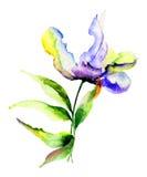 Flores estilizadas Imágenes de archivo libres de regalías
