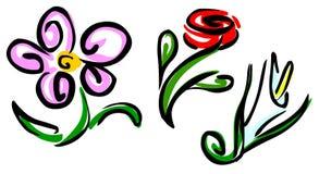 Flores estilizados Imagem de Stock Royalty Free