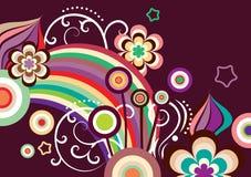 Flores estilizados Imagens de Stock Royalty Free