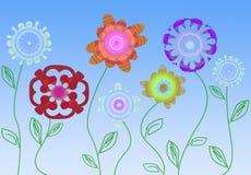 Flores estilizados Ilustração Royalty Free
