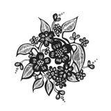 Flores estilizados ilustração do vetor