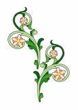 Flores estilizados alaranjadas Foto de Stock Royalty Free