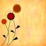 Flores estilizados do outono Imagem de Stock
