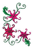 Flores exóticas en blanco Imagen de archivo libre de regalías