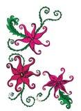 Flores exóticas en blanco Libre Illustration