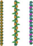 Flores fabulosas verticales Ilustración del Vector