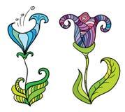 Flores fantásticas del color Imagen de archivo libre de regalías