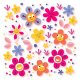 Flores felices stock de ilustración