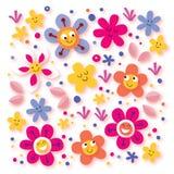 Flores felizes ilustração stock