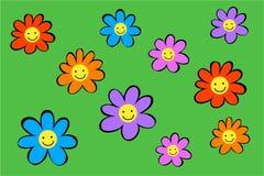 Flores felizes ilustração royalty free