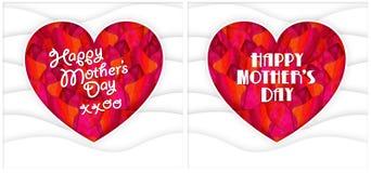 Flores felizes do coração da mamã do dia de mães Foto de Stock Royalty Free