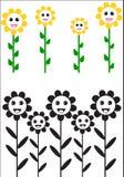Flores felizes do sol Fotos de Stock Royalty Free