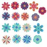 Flores fijadas stock de ilustración