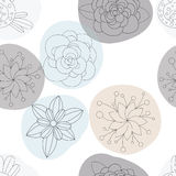 Flores florales modelo inconsútil, fondo Fotos de archivo libres de regalías