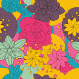 Flores florales modelo inconsútil, fondo Fotos de archivo