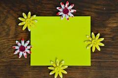 Flores, fondo para el texto Foto de archivo