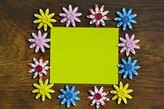 Flores, fondo para el texto Imagenes de archivo