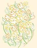 Flores Free-Form ilustração do vetor