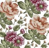 Flores. Fundo bonito com um orname da flor Foto de Stock Royalty Free
