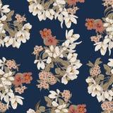 Flores Fundo sem emenda do vetor Textura da flor Teste padrão floral vintage clássico botany ilustração do vetor