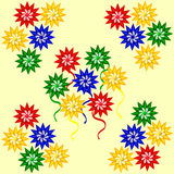 Flores geométricas Foto de archivo libre de regalías