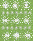 Flores geométricas en la piedra arenisca verde Foto de archivo libre de regalías