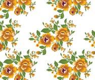 Flores grandes Fundo do teste padrão Imagens de Stock Royalty Free