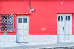 Flores Guatemala, historic buildings architectural details. Royalty Free Stock Photo