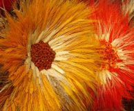 Flores hechas a mano   Imagen de archivo libre de regalías