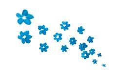 Flores hechas a mano del extracto azul de la acuarela Fotos de archivo