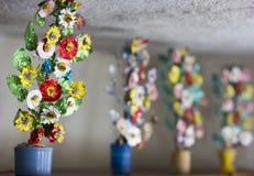 Flores hechas a mano viejas Foto de archivo libre de regalías
