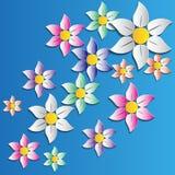 Flores hermosas stock de ilustración