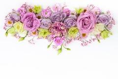 Flores hermosas en el fondo blanco imágenes de archivo libres de regalías